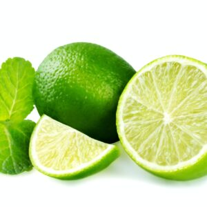 Limes with mint isolated